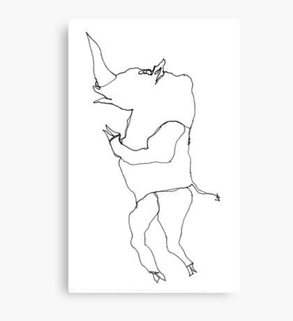 Squib the Rhino Canvas Print