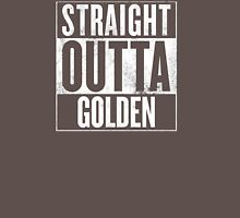 STRAIGHT OUTTA GOLDEN Womens Fitted T-Shirt