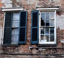 Beautiful, Ugly Windows on Bourbon Street, New Orleans by Debbie Robbins