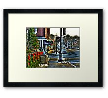 Downtown Chagrin Falls Framed Print