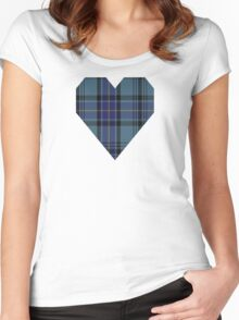 00484 Hannay Blue Clan/Family Tartan  Women's Fitted Scoop T-Shirt