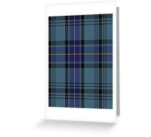 00484 Hannay Blue Clan/Family Tartan  Greeting Card