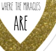 Put your money where the miracles are Sticker