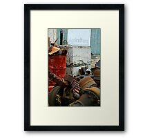 Typical Farming Practices Framed Print