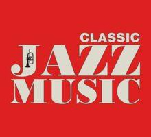 White Classic jazz music One Piece - Short Sleeve