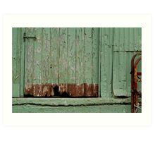 Old Loading Dock Art Print
