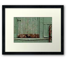 Old Loading Dock Framed Print