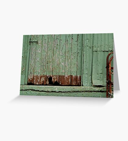 Old Loading Dock Greeting Card