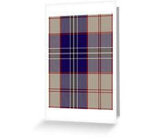 00485 Harris Royal Blue Tartan Greeting Card