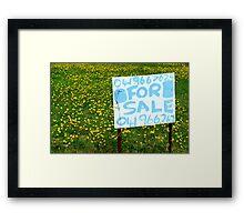 For Sale Framed Print