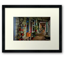 Sidewalks of Locke Framed Print