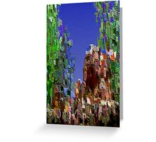 3Dish painting (virtual bas-relief) Greeting Card