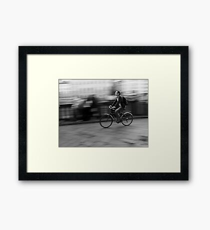 Moving Through Florence Framed Print