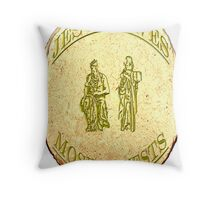 Jesus Saves Moses Invests II Throw Pillow