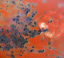 Rusted Red Metal by IndigoBleue