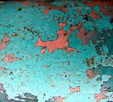 Rusted Blue and Faded Red Metal by IndigoBleue