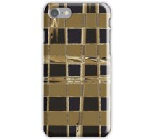 Checked Gold iPhone Case/Skin