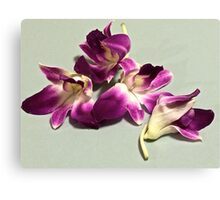 Abstract of orchid petals Canvas Print