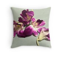 Abstract of orchid petals Throw Pillow