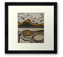 Abstract Music Crescendo Framed Print