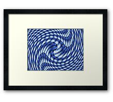 Blue Guess Framed Print
