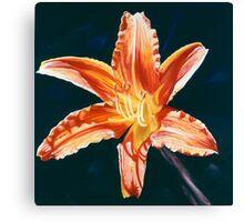 """Orange Lily"" - big lily painting Canvas Print"