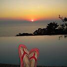 Lake Malawi: sunset and my feet by Anita Deppe