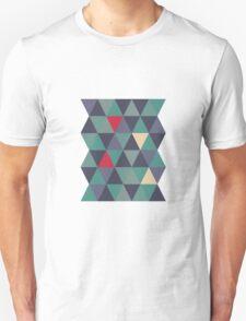Blue grey triangles Unisex T-Shirt