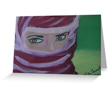 Mysterious eyes  Greeting Card