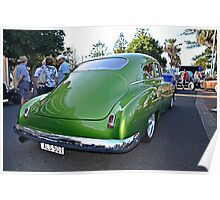Chev 2 door Rear View 50 model Chevy Fleetline  Poster