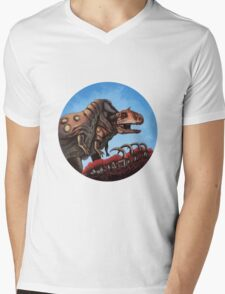 Dinosaur Cannibalism Mens V-Neck T-Shirt