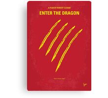 No026 My Enter the dragon minimal movie poster Canvas Print