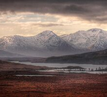 Glen Coe over a frozen Loch Laidon by Paul  Gibb