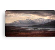 Glen Coe over a frozen Loch Laidon Canvas Print