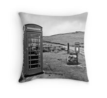 Communication Point, Mid Wales Throw Pillow