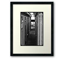 Dull lines Framed Print