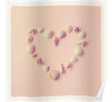 Seashell Heart Poster