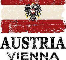 Austria Flag - Vintage Look by Port-Stevens