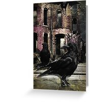 The Crow King Greeting Card
