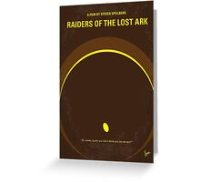 No068 My Raiders of the Lost Ark minimal movie poster Greeting Card