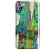 Desert Cactus Rainbow Art Abstract Watercolor by Robert R  iPhone Case/Skin