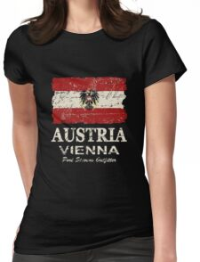 Austria Flag - Vintage Look Womens Fitted T-Shirt