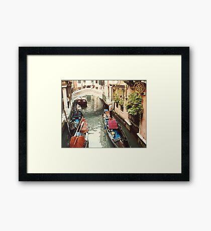 Along a peaceful street Framed Print