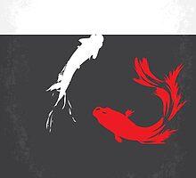 No073 My Rumble fish minimal movie poster by JinYong