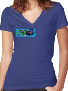 This way,that way Women's Fitted V-Neck T-Shirt