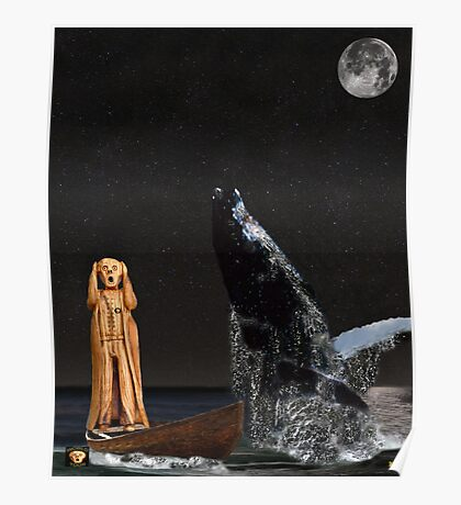 Scream with Humpback Whale Poster