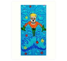 Aquaman Day of the Dead Art Print