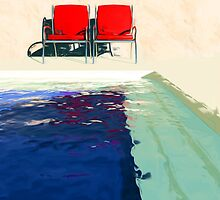 Red Deck Chairs by Ostar-Digital