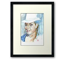 Hat Lady Framed Print