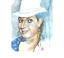 Hat Lady Photographic Print